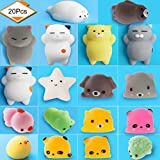 salare Mochi Squishy Toys - Mini Squishy Animals - 20 pieces Mochi Animals Stress Fidgets Toys Squeeze Toys for Children &Adults.