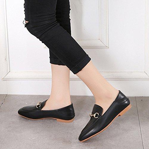 Para Sandalias De Tacón Mujer Verano resistencia Plano Moda Ocio Desgaste Ljo Black Zapatos CpT56Wf6