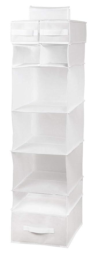 ZOLLNER24 Organizador de armario para colgar, 115 cm alto, con baldas y cajones
