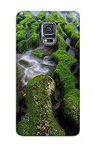 RtIpUeK984sjgZJ Anti-scratch Case Cover Improviselike Protective Mossy Rocks Case For Galaxy S5