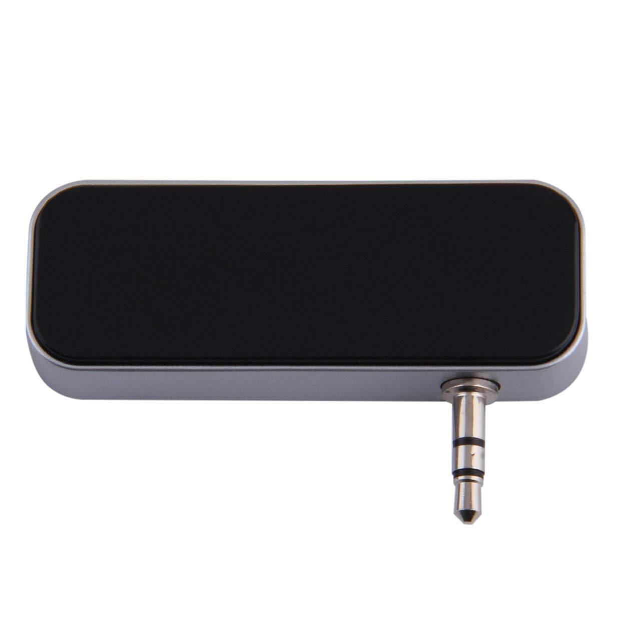 Tree-on-Life Kit de transmisor Mini FM para autom/óvil tama/ño de Bolsillo 3.5FM de m/úsica con Cable USB para tel/éfonos m/óviles Kit de Coche con Pantalla LCD para iPhone