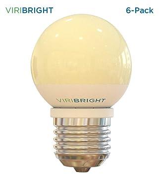 25 W equivalente G15 Vanity LED bombillas (12 unidades) blanco cálido 2700 K E26 tamaño mediano Base LED Globo Luz 180 lúmenes: Amazon.es: Bricolaje y ...