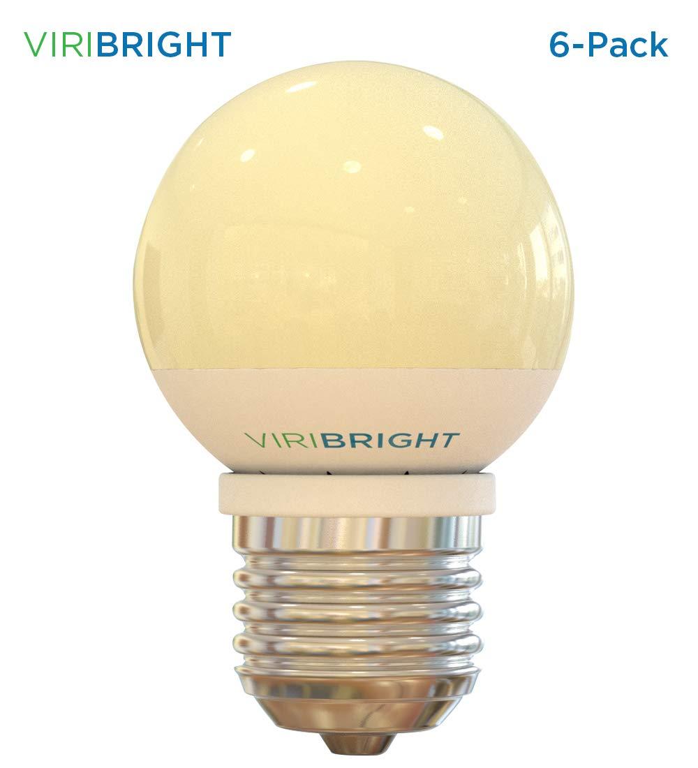 25 Watt Equivalent G15 LED Vanity Light Bulbs (6-Pack) Warm White 2700K E26 Medium Base LED Globe light 180 lumens