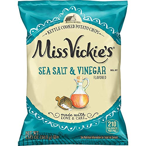 Miss Vickie's 1.3 Ounce Sea Salt & Vinegar Potato Chips (Pack of 30)