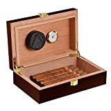 Volenx Cigar Humidor with Hygrometer and Humidifier, Front-Mount...