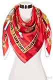 ScarvesMe Women Fashion I Love Jesus Bible Verse Jesus Religious Satin Scarves (Red)