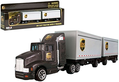 - Realtoy RT4345 UPS Tandem Tractor Trailer Truck Diecast 1/87 Scale Brown Model .HN#GG_634T6344 G134548TY45505
