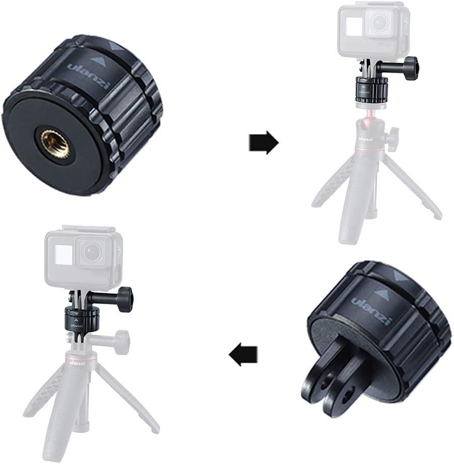 Festnight GP-4 Kit dadaptateur de Montage magn/étique 4 en 1 /à lib/ération Rapide Compatible avec GoPro Hero 8//7//6//5 DJI OSMO Action Camera Insta360 One R Series Camera