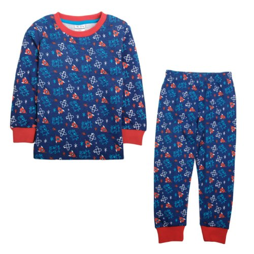 Nova Boys' George Pig Multi Print Pyjamas 5-6 Years Blue