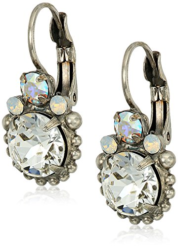 Sorrelli White Bridal Solar Flare Drop Earrings - Sorrelli White Earrings