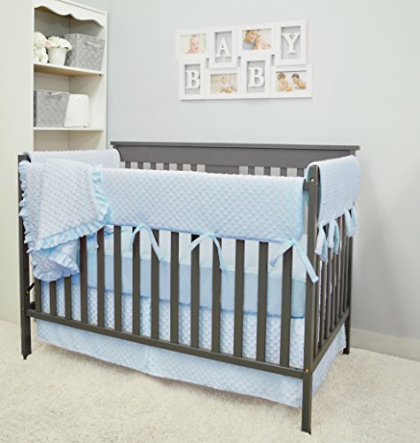 American Baby Company Heavenly Soft 6 Piece Crib Rail Bedding Set, Blue, for Boys and -