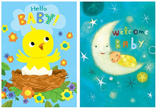 Peaceable-Kingdom-Congratulations-Cards-for-New-Babies-Box-of-12-Cards-and-Envelopes