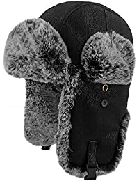 Winter Faux Fur Hunting Hat Unisex Trapper Russian Aviator Trooper Hat