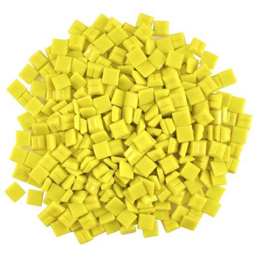 (Jennifer's Mosaics 3/8-Inch Venetian Style Glass Mosaic Tile, Yellow, 8-Ounce)