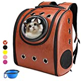 Aukor Cat Backpack Carriers Cat Bubble Pet Carrier Backpack Ventilated Airline Approved Travel Pet Backpacks for Cats Dogs Switchable Bubbles and Vent Mesh
