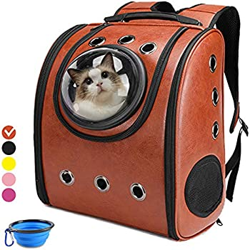 866e22d954 Aukor Cat Backpack Carriers Cat Bubble Pet Carrier Backpack Ventilated  Airline Approved Travel Pet Backpacks for Cats Dogs Switchable Bubbles and  Vent Mesh