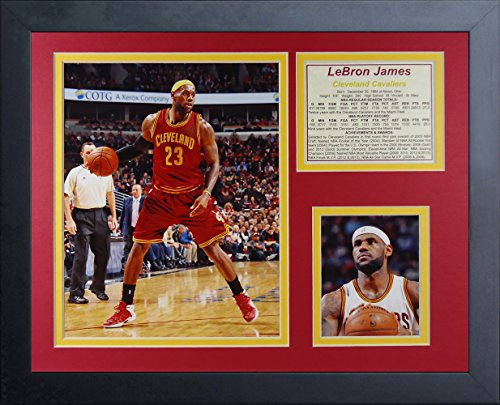 Legends Never Die Lebron James Cleveland Cavaliers Red Collage Photo Frame, 11