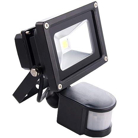 Sourcing4U X1-10w-FL-BL-C-PIR Reflector LED con sensor