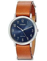 Citizen Men's BJ6500-12L Eco-Drive Analog Display Japanese Quartz Brown Watch