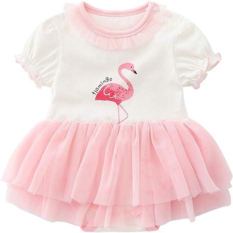 Patrón de los bebés del algodón de la falda del flamenco Bodies ...