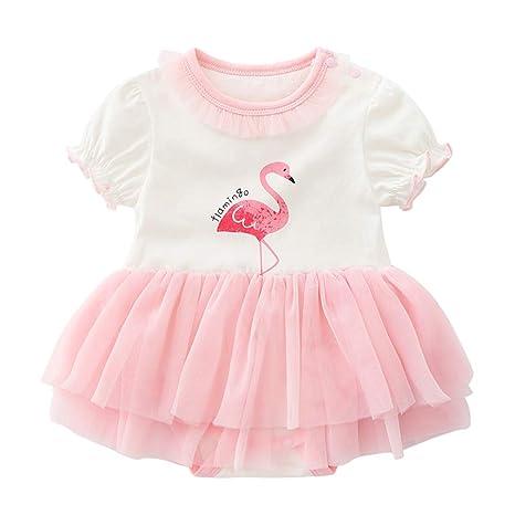 Patrón de los bebés del algodón de la falda del flamenco ...