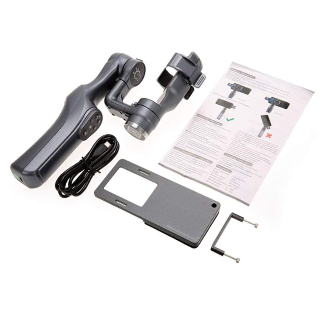 Swiftswan für JJ-1S 2-Achsen-Smartphone Selfie Brushless Hand Gimbal Tray Stabilisator mit Cam-Adapter für GOPRO / Xiaomi YI / Sargo Kamera schwarz