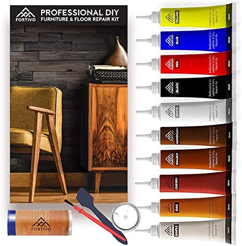 Wood Furniture Repair Kit Hardwood Laminate Floor Repair Kit Wood Floor Scratch Repair For Furniture Wood Putty For Wood Filler Wood Stain Touch Up Scratch Remover Rejuvenate Floor Restorer Home