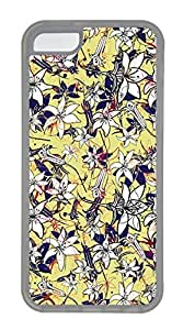 iPhone 5c Cases - Wholesale Summer Cool TPU Transparent Cases Personalized Design Flowers And Line by Maris's Diary