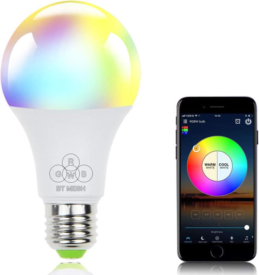 V18 Smart WIFI LED Bulb RGB+W LED Bulb 6W GU10 Dimmable Light Phone Remote T6S4