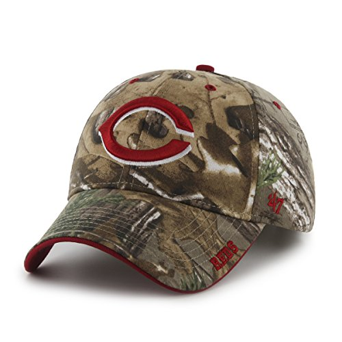 MLB Cincinnati Reds Frost MVP Adjustable Hat, One Size, Realtree Camouflage