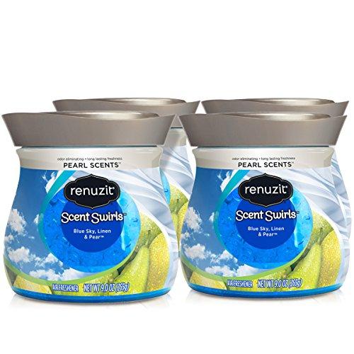- Renuzit Pearl Scents Air Freshener, Blue Sky, Linen & Pear, 9 Ounces (4 Count)