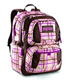 JanSport Classic Merit Backpack, Shell Tan Dark Side Plaid