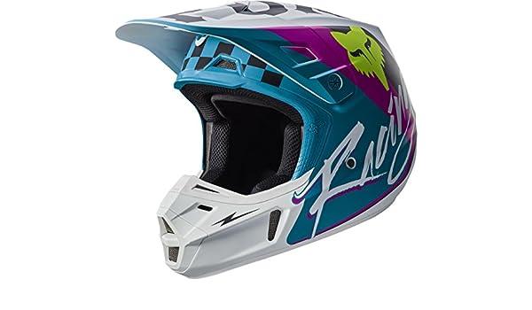 2017 Fox Racing Adult V2 ROHR Helmet TEAL Motocross MX ATV Off Road 17374-176