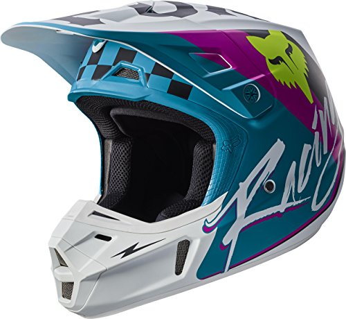 Fox Racing Rohr Adult V2 Motocross Motorcycle Helmets - Teal/Large (Fox V2 Race)