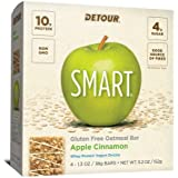 Detour SMART Apple Cinnamon Whole Grain Oatmeal Protein Nutrition Snack Bar, 1.3 oz, 4 count (Pack of 1)