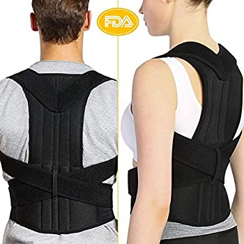 Back Brace Posture Corrector for Men and Women, Adjustable Full Lumbar Back Brace Belts for Slouching and Hunching to Improve Bad Posture Thoracic Kyphosis ...