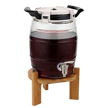 HQCC Barril de Vino de Vidrio sin Plomo, Cerveza casera/Almacenamiento de Jugo,