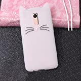 Aafiya Trending Stylish Latest 3D Cartoon Series Cute Cat Beard Silicone Case Cover Lovely Mobile Shell FOR XIAOMI REDMI NOTE 4 - White
