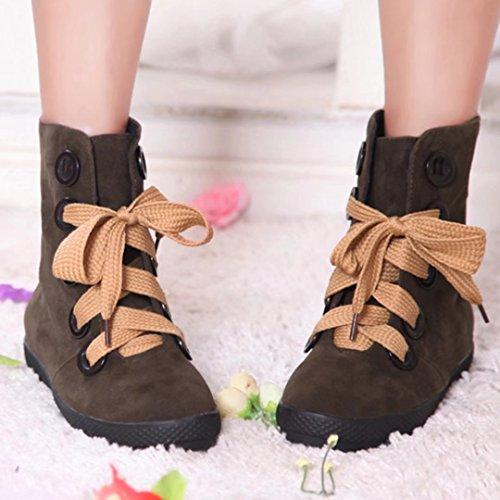 Boot Women's Brown Classic Women's AIYOUMEI AIYOUMEI 0qwqBZ