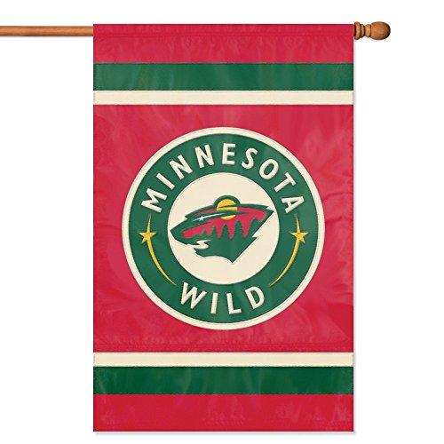 NHL 2-Sided Appliqué Banner Flag, Minnesota (Minnesota Wild Flag)