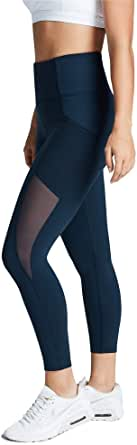 Rockwear Activewear Women's Ag Mesh Pocket Tight Deep Sea 6 from Size 4-18 for Ankle Grazer Ultra High Bottoms Leggings + Yoga Pants+ Yoga Tights