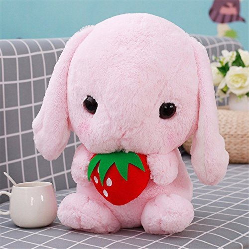 - Wenjuan 9 Inch Soft Rabbit Plush Toy Pillow Pet,Stuffed Animal Doll for Child Pet Hugging Pillow Big Plushie Gift for Kids Girl Boy Girlfriend Birthday Easter Xmas (Pink)
