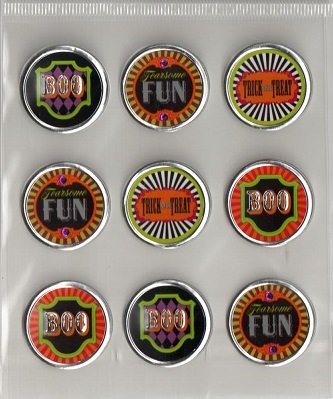 3d Round Halloween Icon Stickers By Recollections -