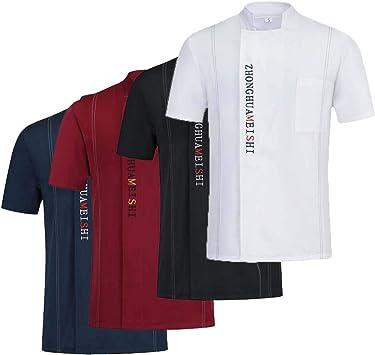 YOUYE Chef Camisa Uniforme Fresca del abastecimiento de Restaurante WaiterJacket Cocina Comida Servicio del Hotel Ropa de Trabajo Ropa: Amazon.es: Deportes y aire libre