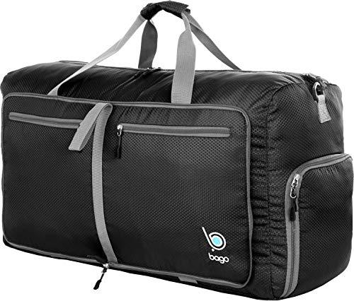 "51XEWDSFTGL - Bago 60L Packable Duffle bag - 23"" Foldable Travel Duffel bag (Black)"