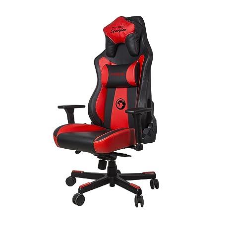 Marvo - CH101R Silla Ergonómica de gaming de gran confort de color rojo.