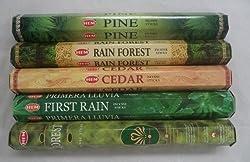 Hem Incense Forest * Cedar * Pine * Rain Forest * First Rain 5 x 20, 100 Sticks