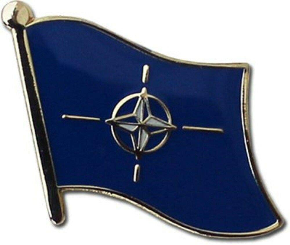 Lapel pin for Motorcycle Accessories Studs for Clothes Wholesale Pack of 24 NATO Treaty Organization Flag Bike Hat Cap Lapel Pin by OutletBestSelling