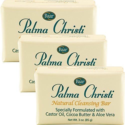 Palma Christi (Castor Oil) Natural Cleansing Bar Soap, 3 bar set