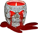 Spiral - Goth Skull - Scented Resin Candle Holder Candle